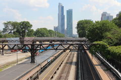Chicago. Beautiful view of Chicago's Metra line Stock Images