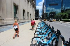 Chicago bicycle sharing Royalty Free Stock Image