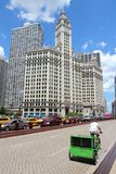 Chicago bicycle taxi Royalty Free Stock Photography