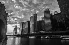 Chicago bij Meer Michican stock fotografie