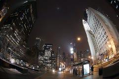 Chicago bij Nacht Royalty-vrije Stock Afbeelding
