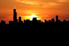 Chicago bij zonsondergang Royalty-vrije Stock Foto