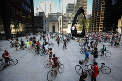 Chicago bike ride - Critical Mass Royalty Free Stock Images