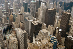 Chicago bird-eye view Stock Images
