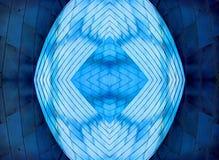 Chicago blåa metalliska abstrakta designer royaltyfri fotografi