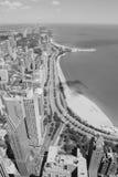 Chicago black white Royalty Free Stock Photo