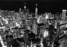 Chicago In Black and White Royalty Free Stock Photos