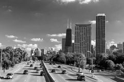 Chicago in black and white Stock Images