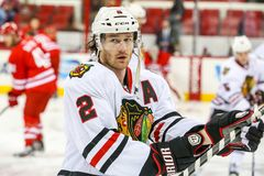 Chicago Blackhawks defenseman Duncan Keith Royalty Free Stock Images