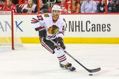 Chicago Blackhawks defenseman Johnny Oduya Stock Photos