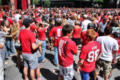 Chicago Blackhawks fans Stock Photo