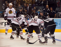 Chicago Blackhawks at Los Angeles Kings, 2/25/2012 Stock Photos