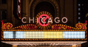 Chicago Blank Marquee Stock Image