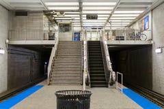 Chicago Blue Line Stacjonuje Zdjęcie Royalty Free