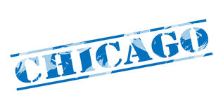 Chicago blue stamp Stock Images