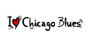 Chicago Blues music style. Creative design of Chicago Blues music style stock illustration