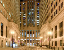 Chicago Board of Trade Building at Night Stock Photo