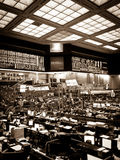 Chicago Board of Trade Floor noir Royalty Free Stock Photography