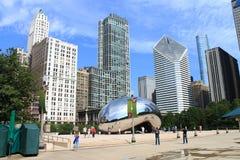 Chicago-Bohnen-Wolken-Tor Stockfotografie