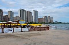 Chicago bording the Lake Michigan, Illinois, USA Royalty Free Stock Image