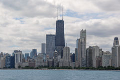 Chicago bording the Lake Michigan, Illinois, USA Royalty Free Stock Images