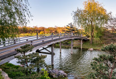 Chicago Botanic Garden. Bridge to Japanese Garden Royalty Free Stock Photo