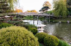 Chicago Botanic Garden. Bridge to Japanese Garden Stock Images