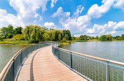 Chicago Botanic Garden Bridge, USA Royalty Free Stock Photos