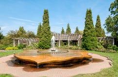 Chicago Botanic Garden, Rose Petal Fountain in the rose garden area, USA Stock Image