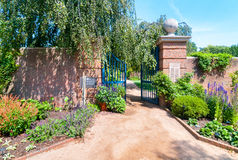 English Walled Garden area at the Chicago Botanic Garden, Glencoe, USA royalty free stock images