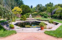 English Walled Garden area at the Chicago Botanic Garden, Glencoe, USA stock photos
