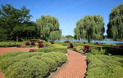 Chicago Botanical Gardens in the summer Stock Photography