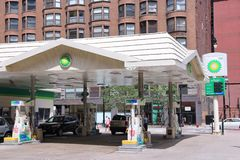Chicago - BP gas station Royalty Free Stock Image