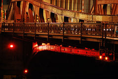 Chicago bridge noc fotografia royalty free