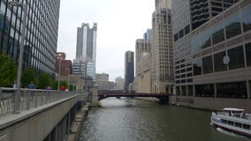 Chicago. Bridge and waterway in chicago, usa royalty free stock photos