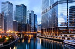 Chicago - brilho do centro Fotografia de Stock Royalty Free