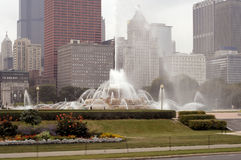 Chicago, Buckingham Fountain Royalty Free Stock Photo