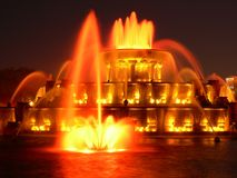 Chicago Buckingham Memorial. Detail of Buckingham Memorial Fountain in Chicago, IL Stock Photos