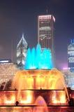 Chicago Buckingham springbrunn Fotografering för Bildbyråer