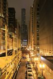 Night and city: metro in Chicago Stock Photos