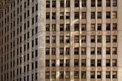 Chicago building symmetry. Michigan avenue of Chicago at sunset Stock Images