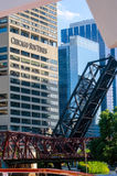 Chicago buildings and bridges Stock Image