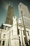 Chicago Buildings-John Hancock and Water Tower Royalty Free Stock Images