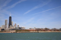Chicago Buildings and Lake Michigan Stock Image
