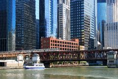 Chicago buildings and river Stock Photography