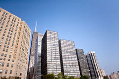 Chicago buildings. View from Ohio street beach, Chicago Royalty Free Stock Images