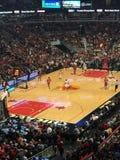 Chicago Bulls που παίζουν το Λος Άντζελες Lakers Στοκ Εικόνες