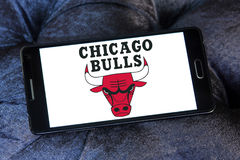 Chicago Bulls basketball team logo Stock Image