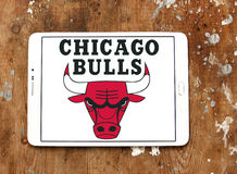Chicago Bulls basketball team logo Royalty Free Stock Photo