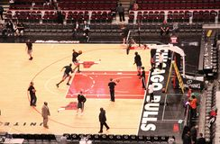 Chicago Bulls United Center Sports Arena Royalty Free Stock Photography